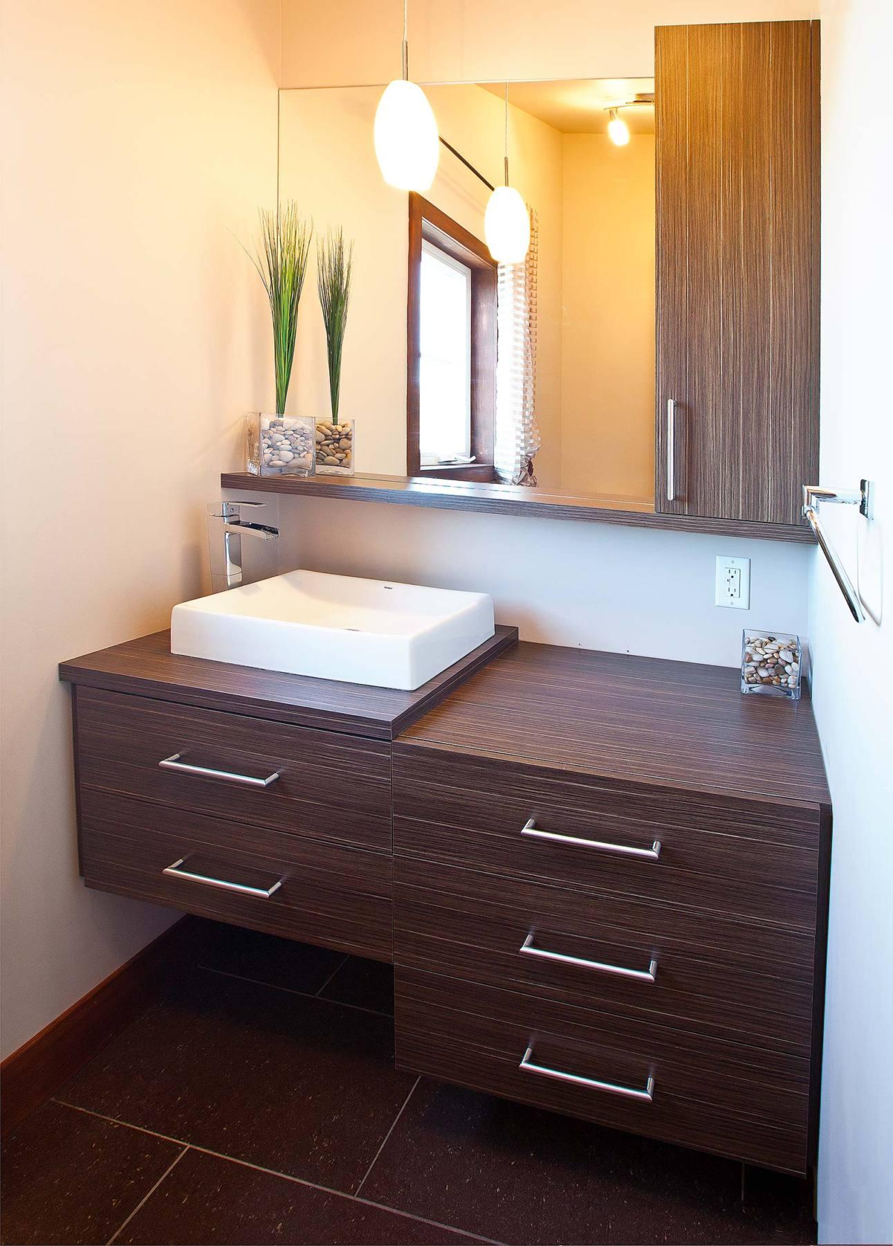 Salle d 39 eau contemporaine griffe cuisine for Salle de bain salle d eau